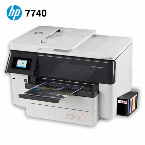 Multifuncional-de-tinta-HP-OfficeJet-Pro-7740-sistema-continuo-profesional