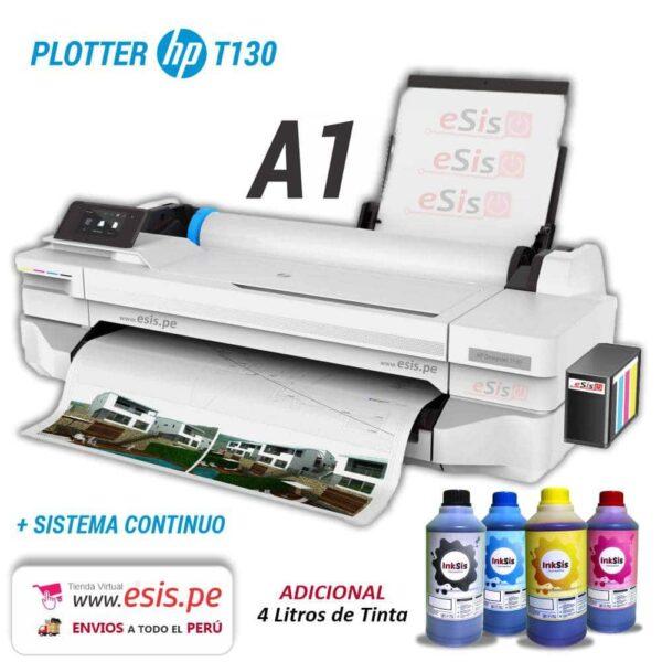 Plotter A1 HP Designjet T130 con Sistema Continuo